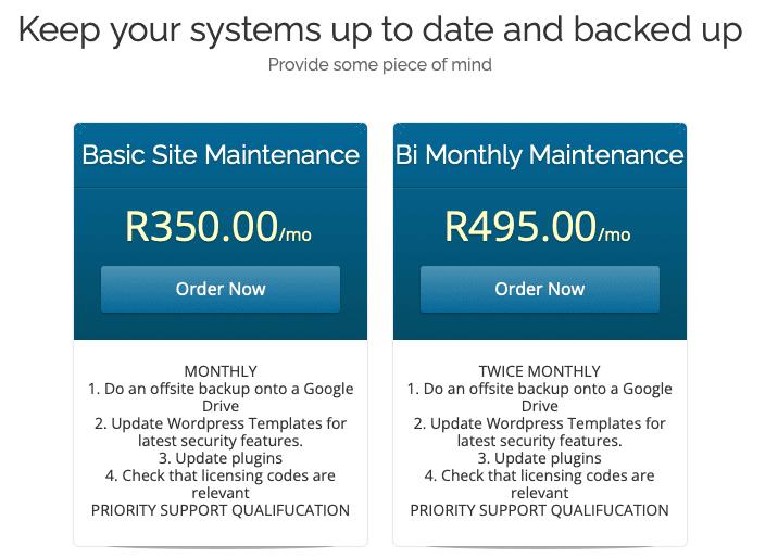 Website Maintenance Plans 1